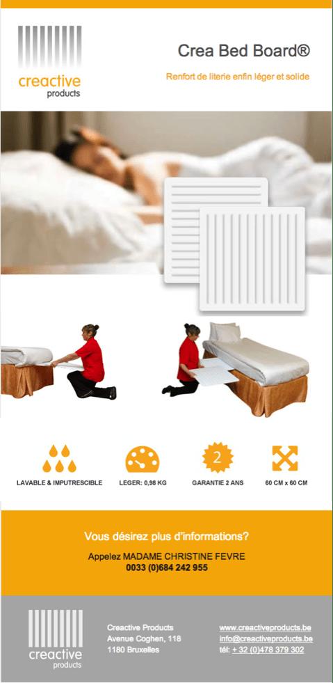 Les planches ergonomiques Crea Bed Board®